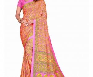 saree, printed saree, and designer saree image
