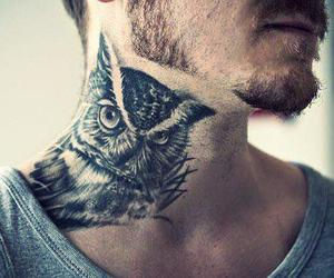 tattoo, owl, and boy image