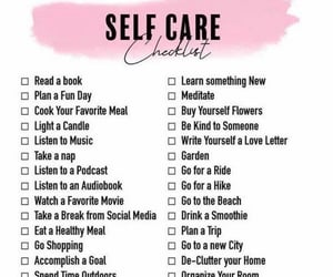 activities, checklist, and relax image