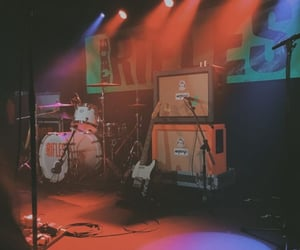 guitar, instruments, and light image