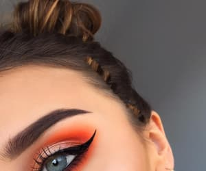 beauty, eye makeup, and glitter image