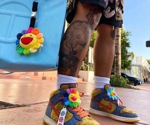 bag, nike, and sneakers image