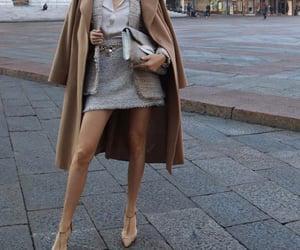 beige, clutch, and coat image