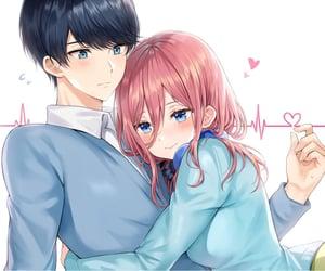 anime, beautiful, and hug image