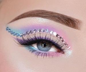 eyeshadow, pastel, and eye image