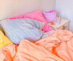 aesthetic, bed, and colorful image