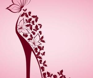 art, high heels, and butterflies image