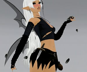 alt, white hair, and faerie image