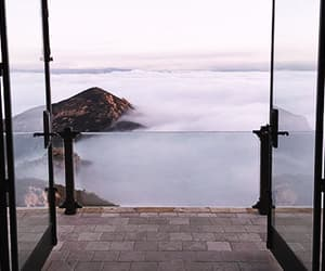 travel, clouds, and view image