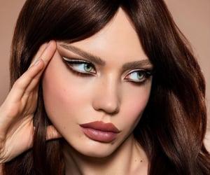 brown, brunette, and makeup image