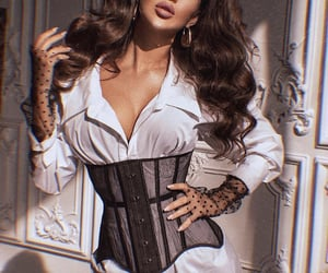 belt, black, and corset image