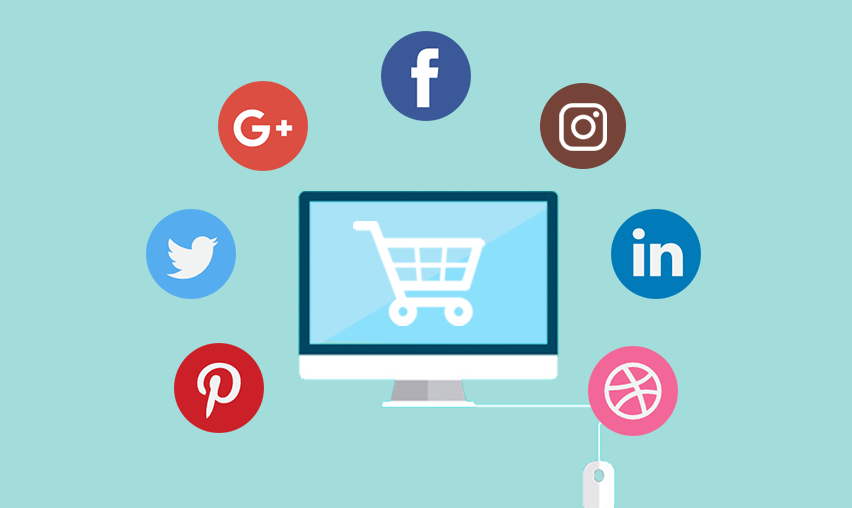 article, social media, and e-commerce image