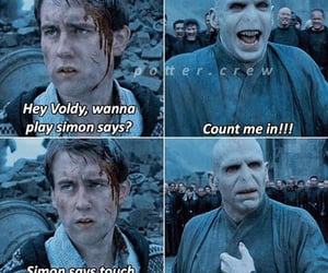 haha, harry potter, and voldemort image
