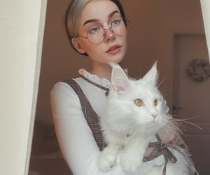 aesthetics, glasses, and makeup image