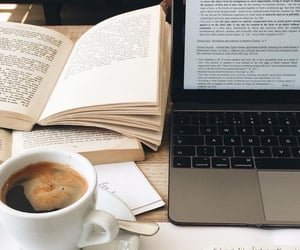 books, coffee, and college image