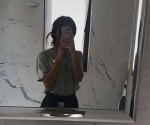 iphone, mirror, and phone image