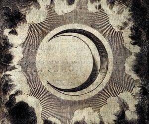 moon, art, and dark image