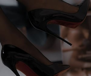 black, red, and shoes image