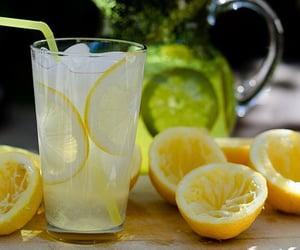 drink, lemon, and lemonade image