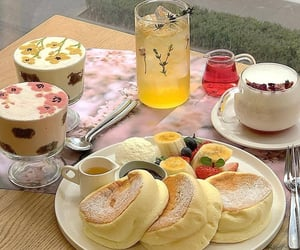 food, aesthetic, and pancakes image