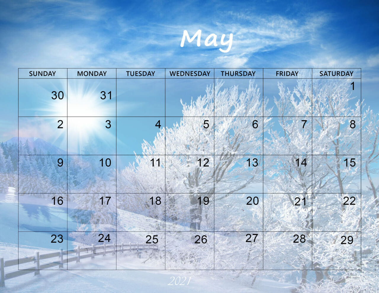 may 2021 calendar and article image