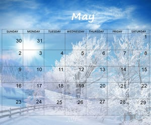 article and may 2021 calendar image