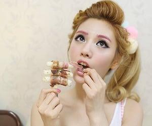 food, girls, and korean image