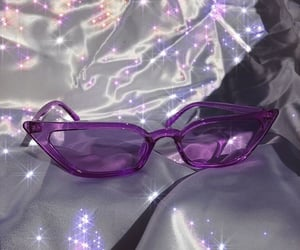purple, aesthetic, and glasses image