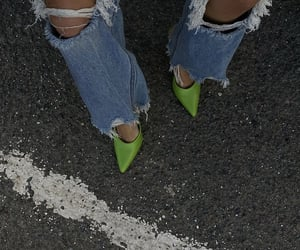neon colors, ripped jeans, and street style image