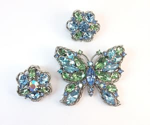 etsy, antique jewelry, and butterfly brooch image