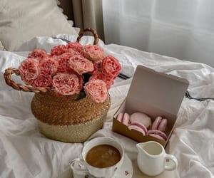 food, breakfast, and flowers image