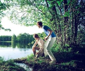 forest, green, and boys image