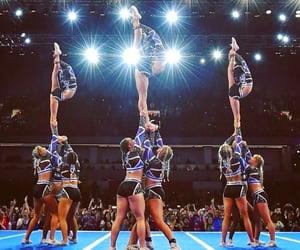 braids, cheer, and cheerleader image