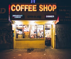 coffee shop and night image