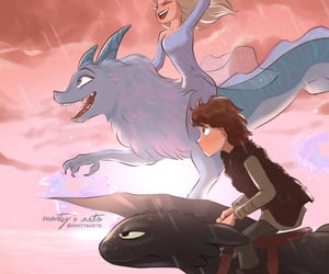 disney, elsa, and httyd image