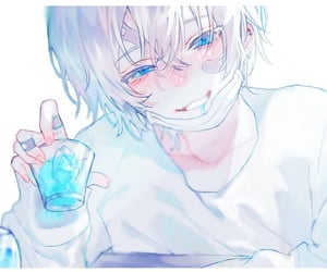 aesthetic, anime, and blue eyes image
