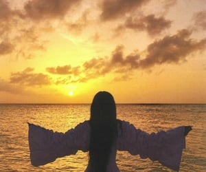 sanity, self love, and sunset image