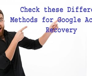 google, account, and recovery image