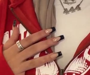 nails, red, and discord image