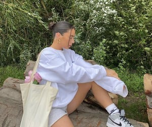 summer, white sweater, and everyday look image