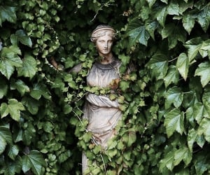 statue, art, and green image