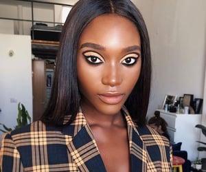 makeup look, black, and Black Eyeliner image