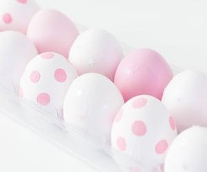 easter, pink, and polka dot image