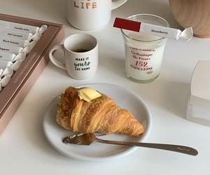 cream, croissant, and dessert image
