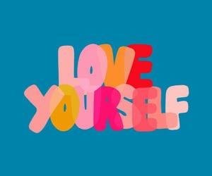 background, motivational, and love yourself image