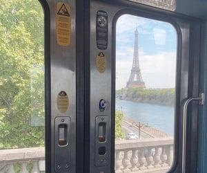 eiffel, subway, and france image