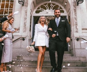 beauty, bridesmaids, and dress image