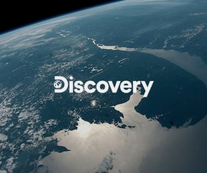 Discovery Channel, ocean, and sharks image