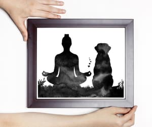 etsy, yogi, and lotus pose image