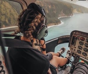 hair, helicopter, and travel image